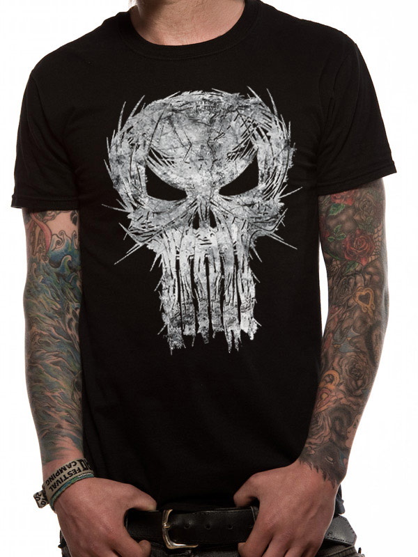 a5c6c2a22 Punisher Shatter Skull Official Unisex Black T-Shirt Marvel Comics Womens  Mens. Product Image