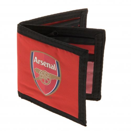 molto carino 6419f c3d49 Dettagli su Arsenal Football Club ufficiale tela nylon soldi portafoglio  distintivo squadra