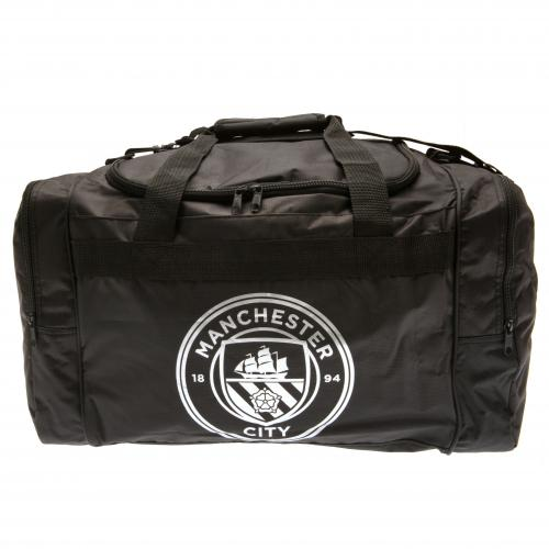 Various-Football-Club-Black-And-Chrome-Official-Holdall-Gym-Bag-Team-Crest-Badge